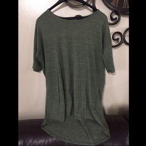 LULAROE shirt green Flowy